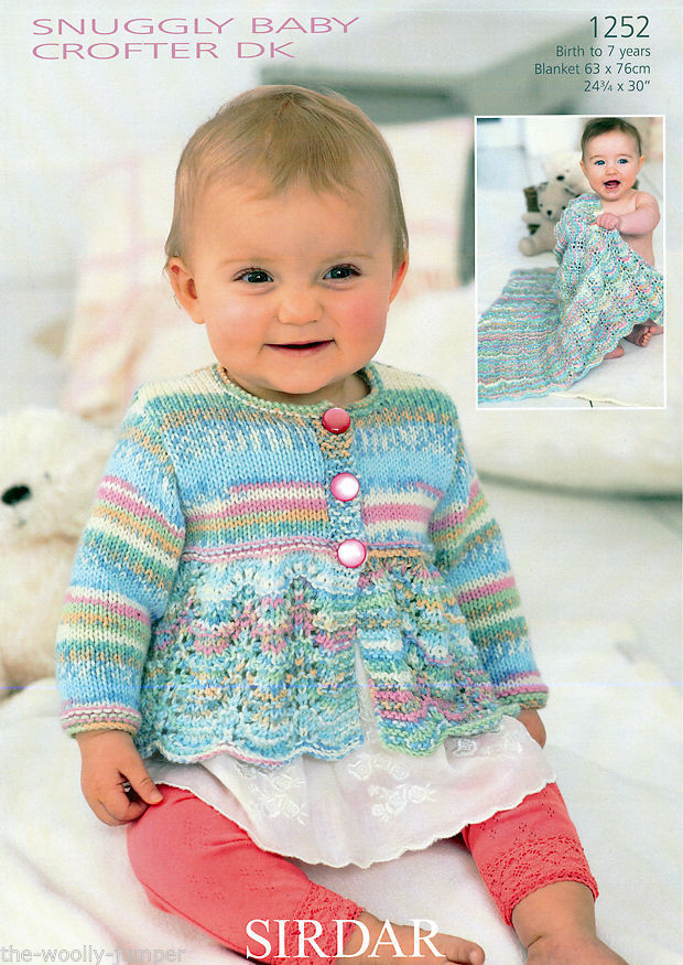 Knitting Patterns For Baby Blankets Sirdar : Sirdar baby crofter dk cardigan blanket knitting