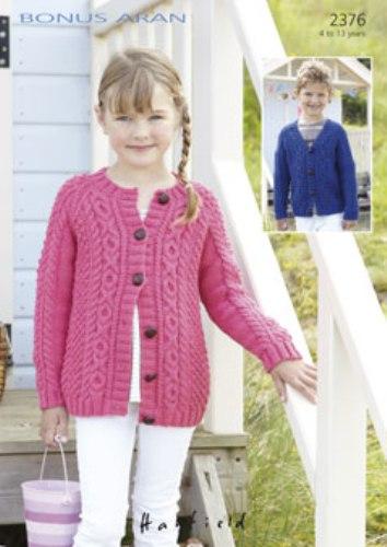 2376 hayfield bonus aran round v neck cardigan knitting pattern 2376 hayfield bonus aran round v neck cardigan knitting pattern to fit 4 to 13 years dt1010fo