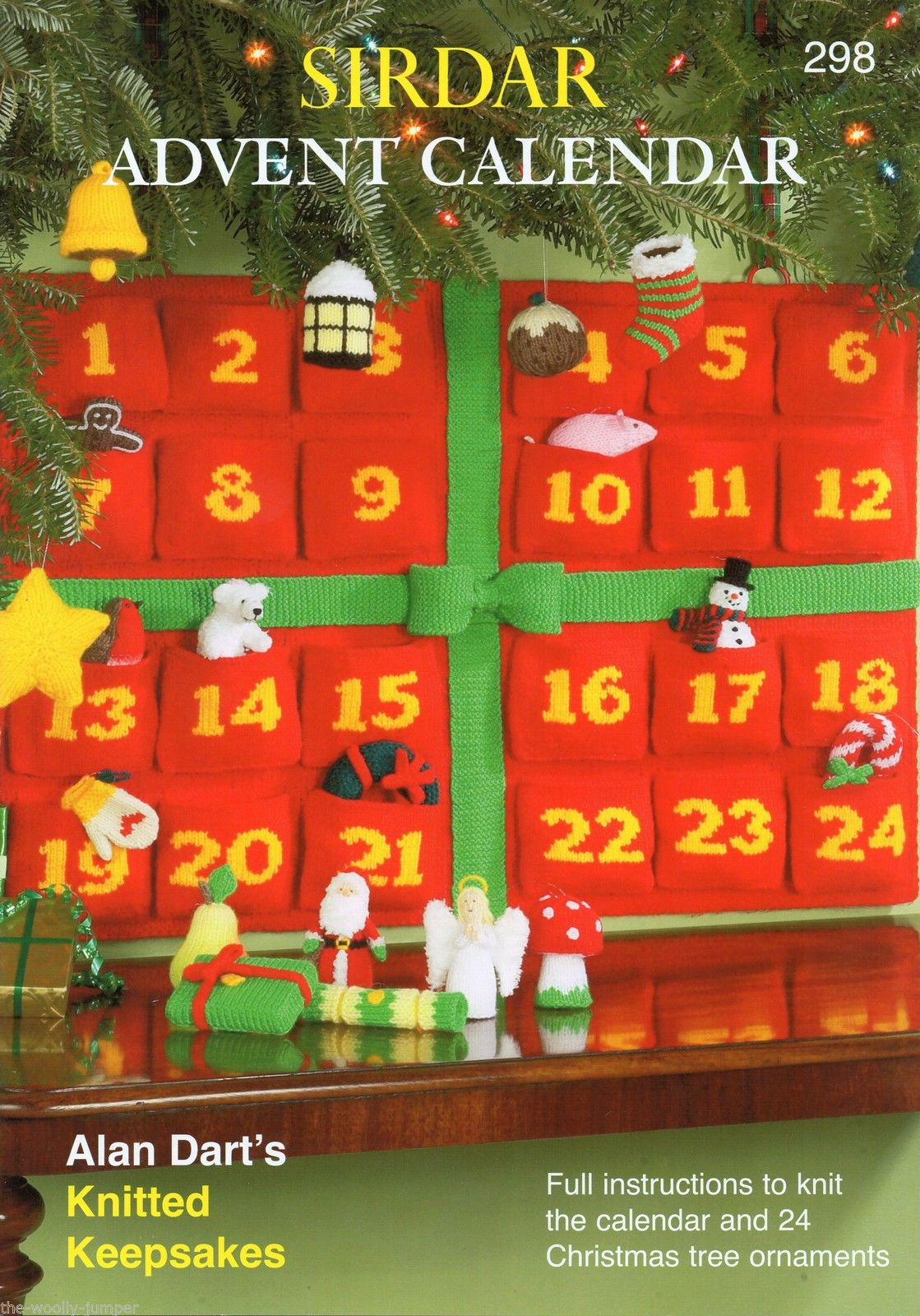 Knitting Pattern Christmas Advent Calendar : 298 - SIRDAR ADVENT CALENDAR KNITTING PATTERN BOOKLET BY ALAN DART
