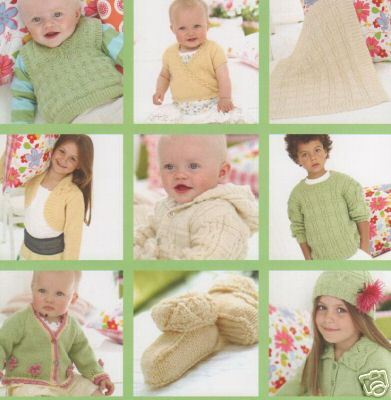 332 Little Sweet Peas Snuggly Dk Knitting Pattern Booklet 0 To 7
