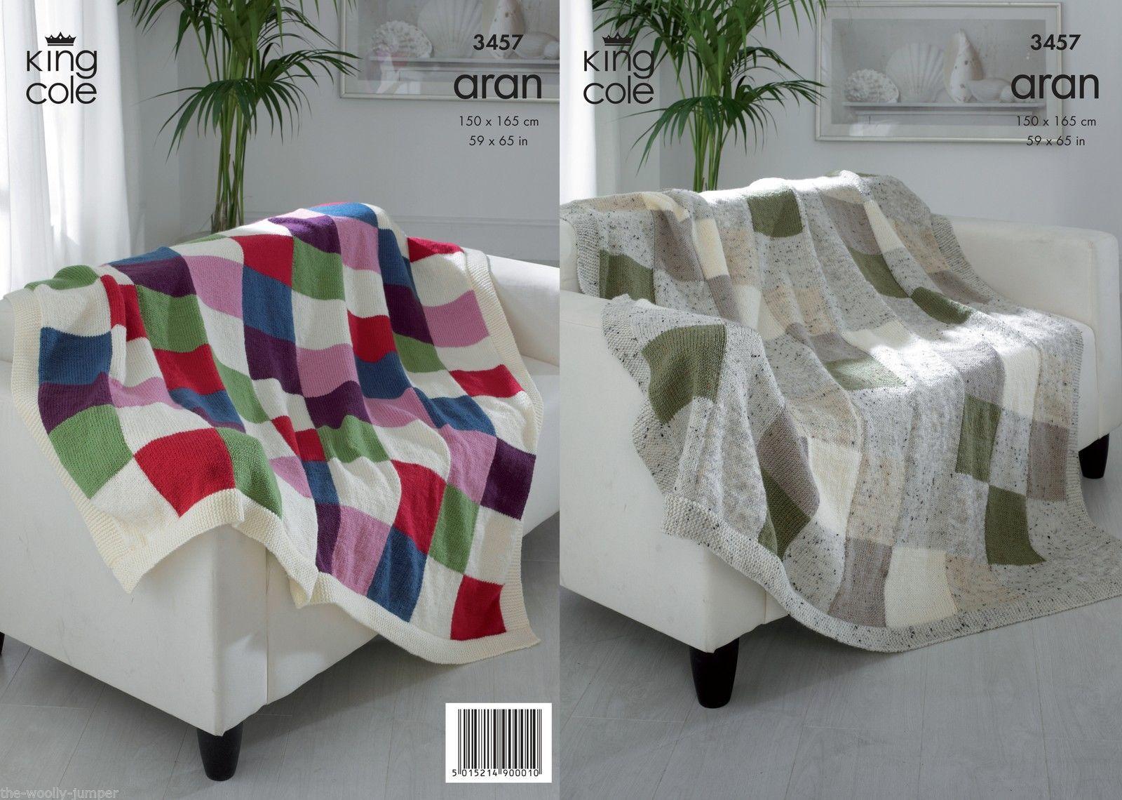 3457 king cole fashion aran afghan blanket knitting pattern 3457 king cole fashion aran afghan blanket knitting pattern size 150 x 165cm bankloansurffo Choice Image