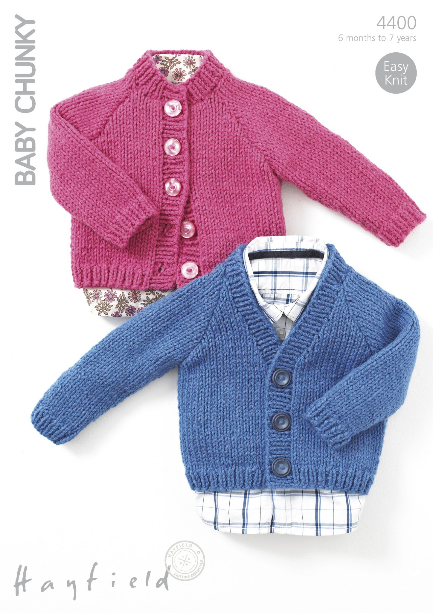 4400 - HAYFIELD BABY CHUNKY CARDIGAN KNITTING PATTERN - TO ...