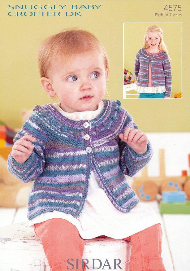 4575 Sirdar Snuggly Baby Crofter Dk Cardigan Knitting