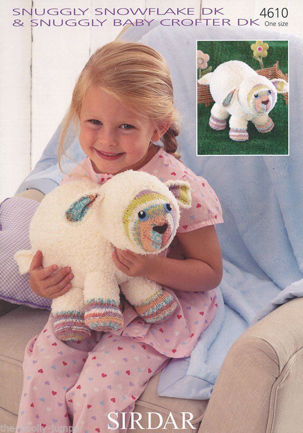Sirdar Toy Knitting Patterns : 4610 - SIRDAR SNUGGLY SNOWFLAKE BABY CROFTER DK LAMB TOY KNITTING PATTERN