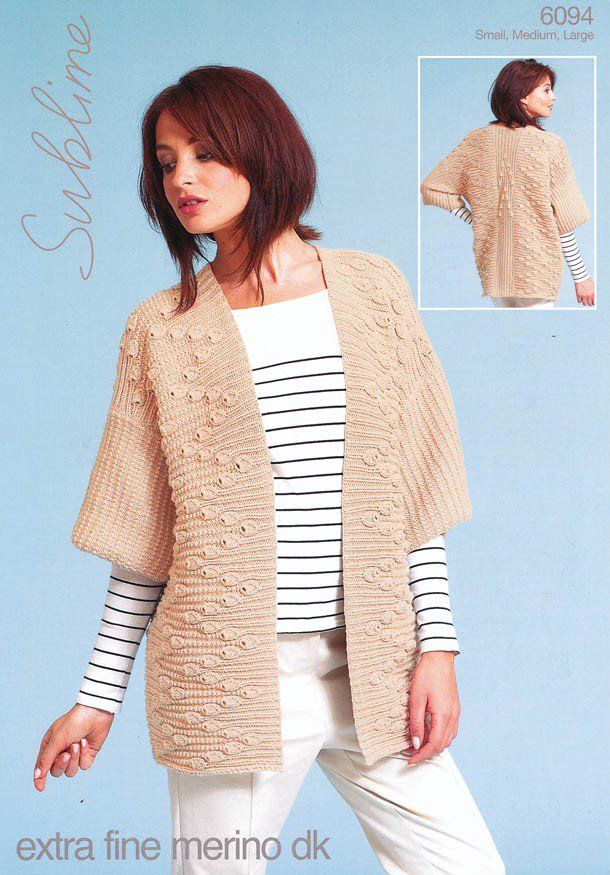 Extra Large Knitting Needles Uk : Sublime extra fine merino dk jacket knitting