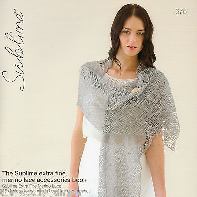 675 - SUBLIME EXTRA FINE MERINO LACE ACCESSORIES BOOK KNITTING ...