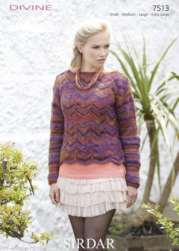 Extra Large Knitting Needles Uk : Sirdar divine sweater knitting pattern to fit