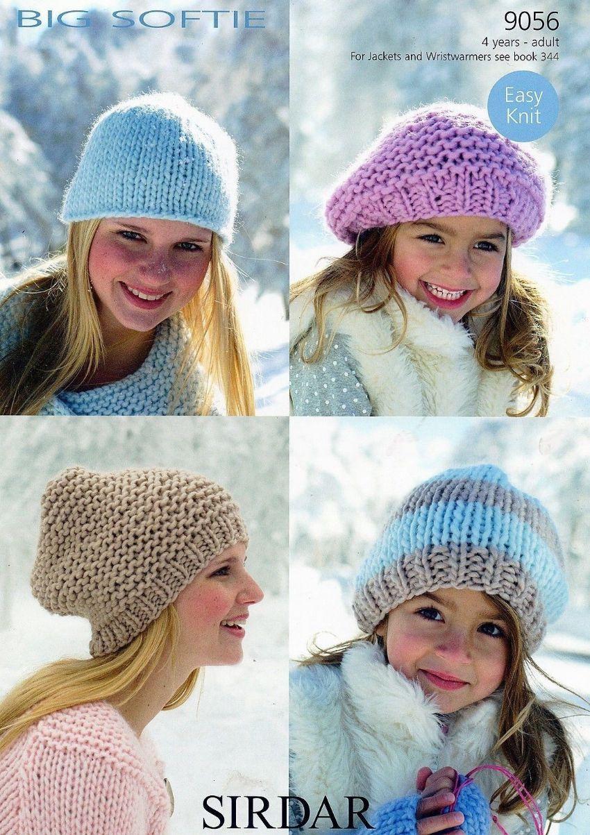 9056 sirdar big softie denim ultra hat beret beanies knitting 9056 sirdar big softie denim ultra hat beret beanies knitting pattern to fit 4 years to adult bankloansurffo Images