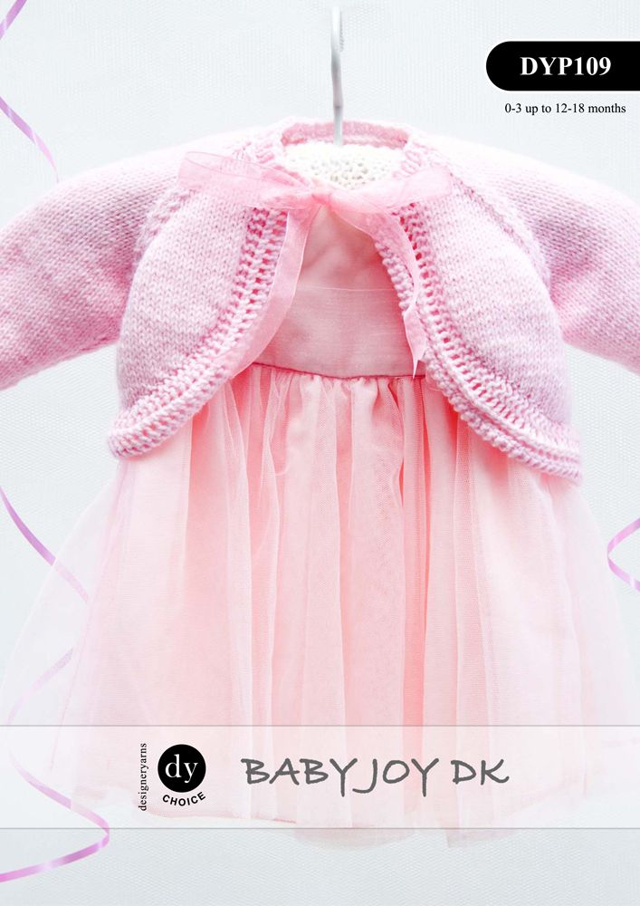Knitting Pattern Cardigan For 18 Months : DYP109 - DYC CHOICE BABY JOY DK BOLERO CARDIGAN KNITTING PATTERN - TO FIT 0 T...