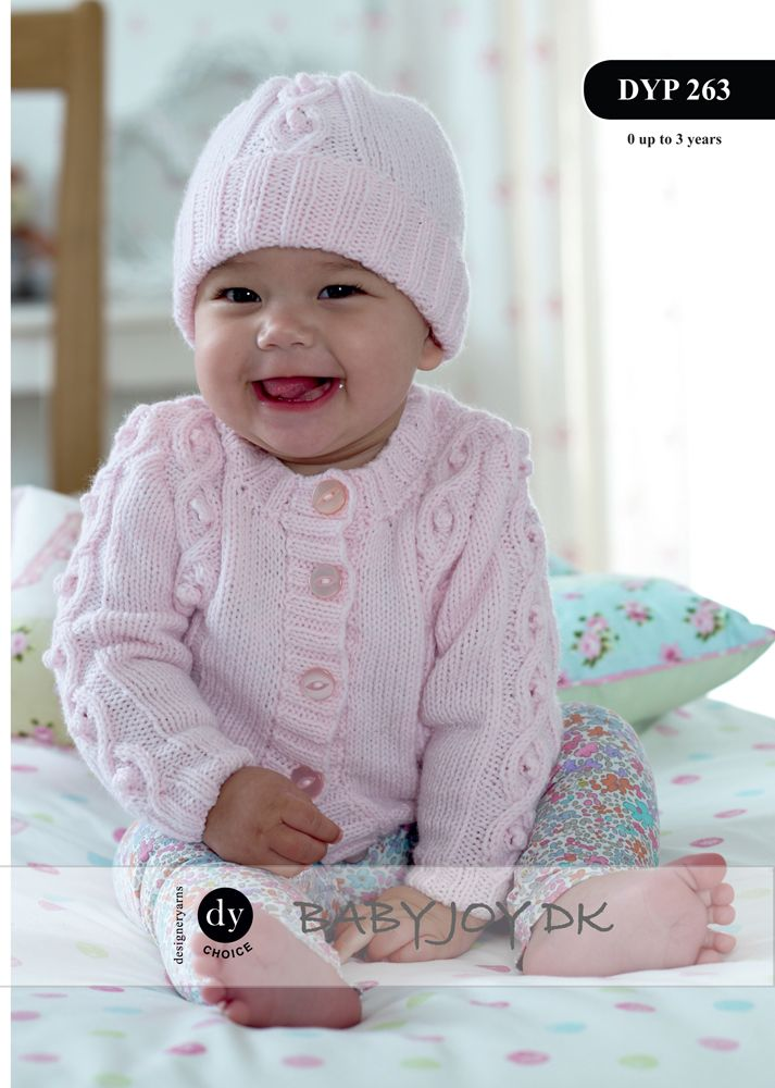 Dyp263 Dy Choice Baby Joy Dk Cardigan Amp Hat Knitting