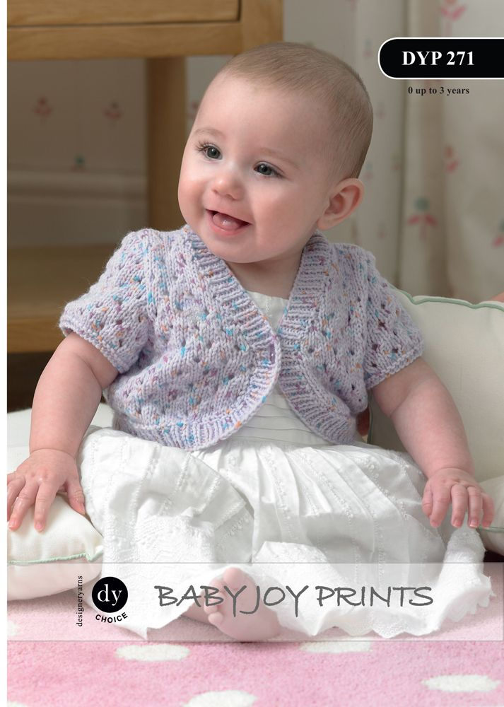 Knitting Pattern Baby Bolero Cardigan : DYP271 - DY CHOICE BABY JOY DK LONG & SHORT SLEEVED BOLERO CARDIGAN KNITT...