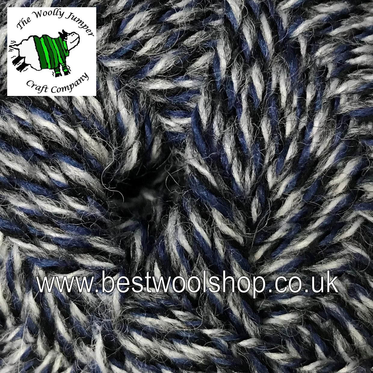 027 - NAVY GREY WHITE - GRUNDL HOT SOCKS UNI 50 4 PLY - KNITTING ...