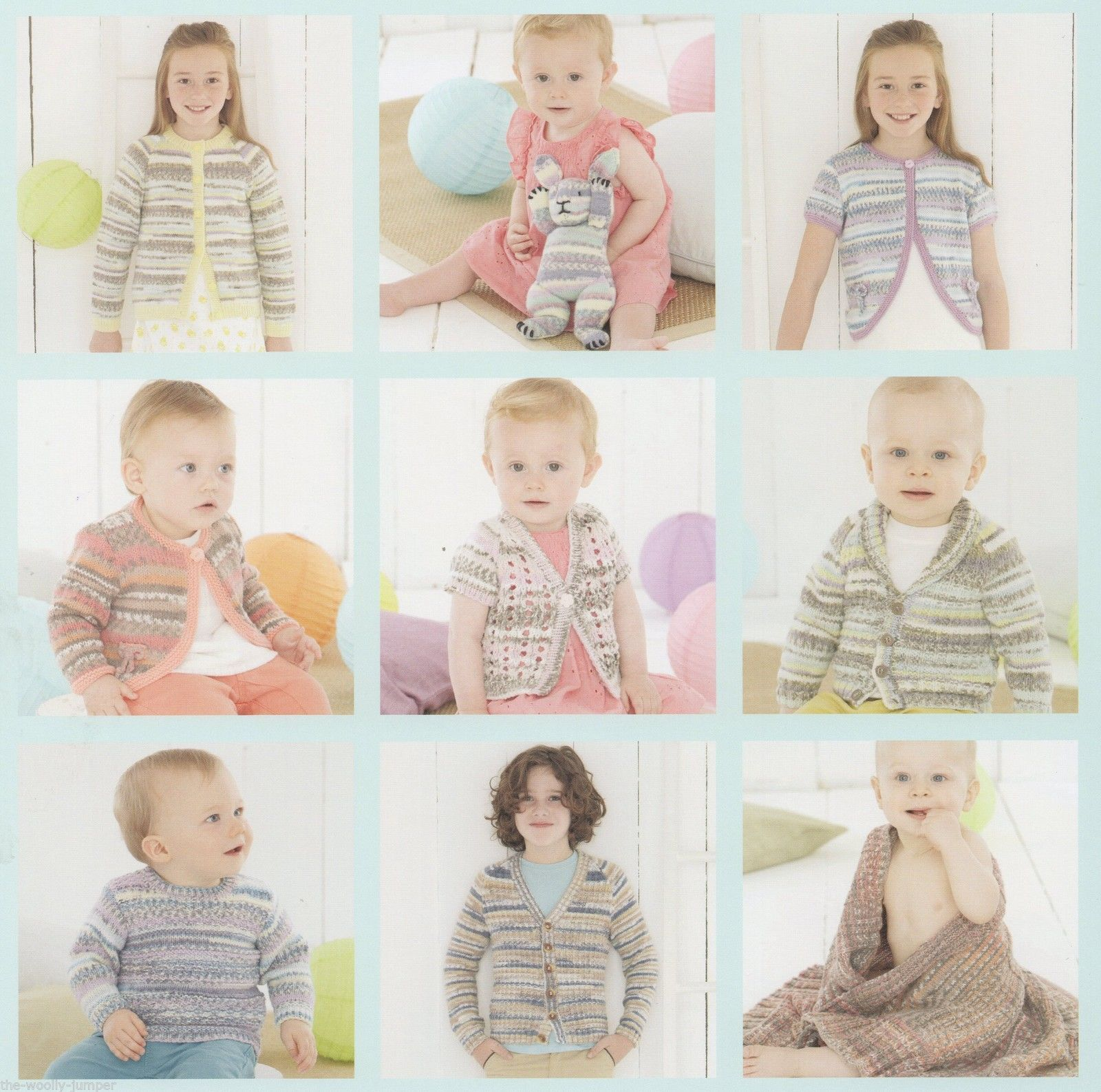 0496 Sirdar Baby Crofter Dk Knitting Pattern Booklet To Fit 0 To