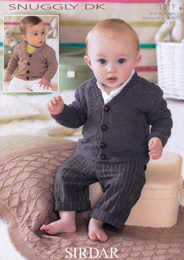 1311 - SIRDAR SNUGGLY DK KNITTING PATTERN - TO FIT 0 TO 7 ...