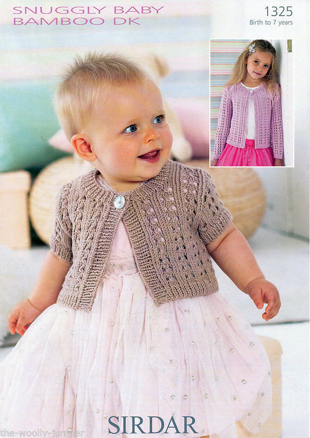2f35f3c35c63 1325 - sirdar snuggly baby bamboo dk long sleeved   short sleeved ...
