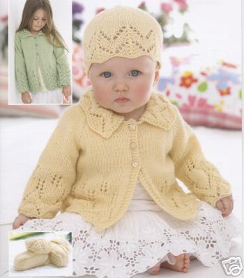 1761 Sirdar Snuggly Dk Jacket Hat Bootees Knitting Pattern To