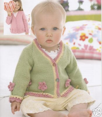 1764 Sirdar Snuggly Dk Cardigans Knitting Pattern To Fit 0 To 7