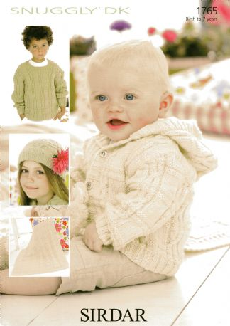1765 Sirdar Snuggly Dk Sweater Blanket Hat Hoody Knitting Pattern