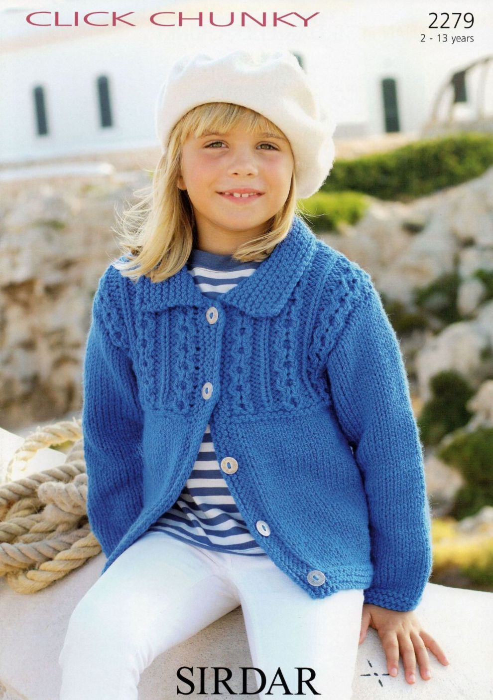 2279 - SIRDAR CLICK CHUNKY CARDIGAN KNITTING PATTERN - TO FIT 2 TO ...