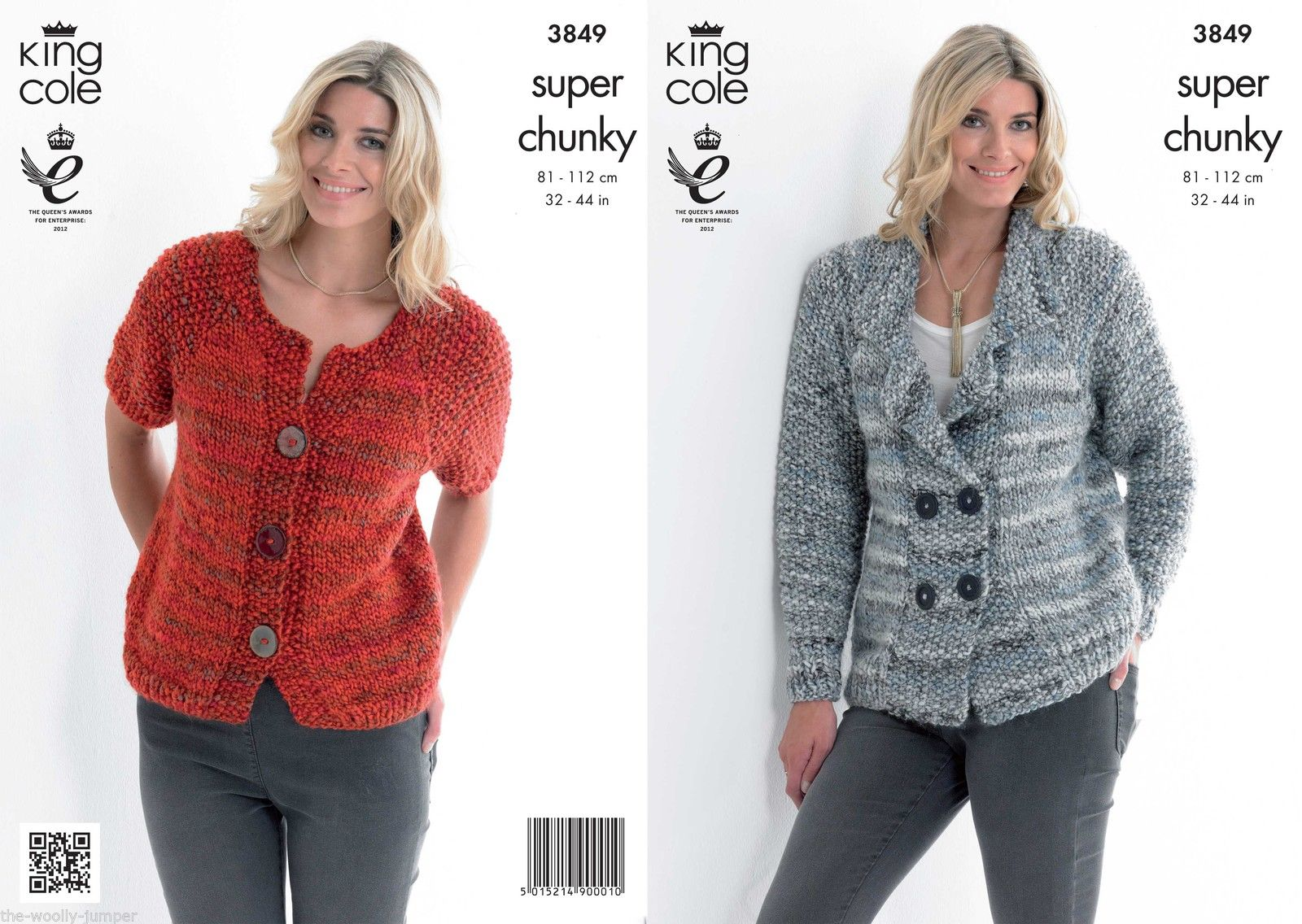 3849 - KING COLE GYPSY SUPER CHUNKY JACKET & CARDIGAN KNITTING ...