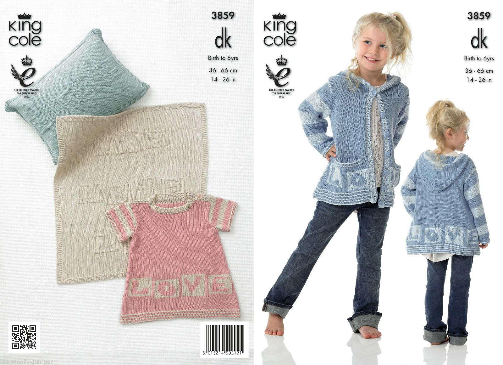 3859 - KING COLE BAMBOO COTTON DRESS HOODIE BLANKET CUSHION KNIT ...