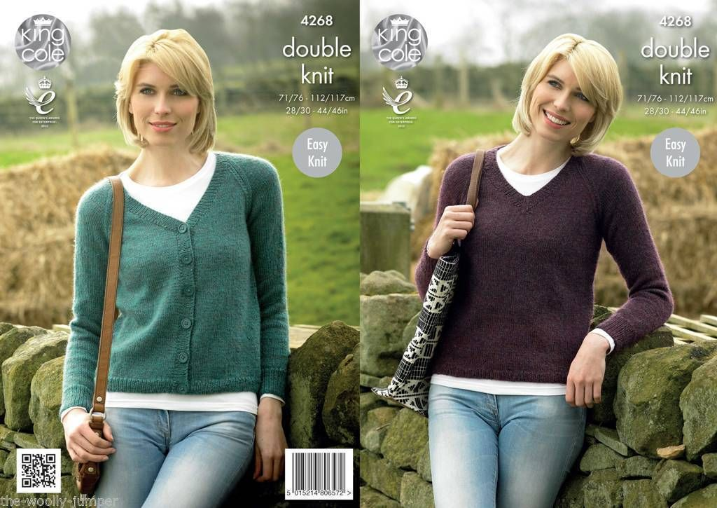 4268 King Cole Panache Dk Cardigan Sweater Knitting Pattern To