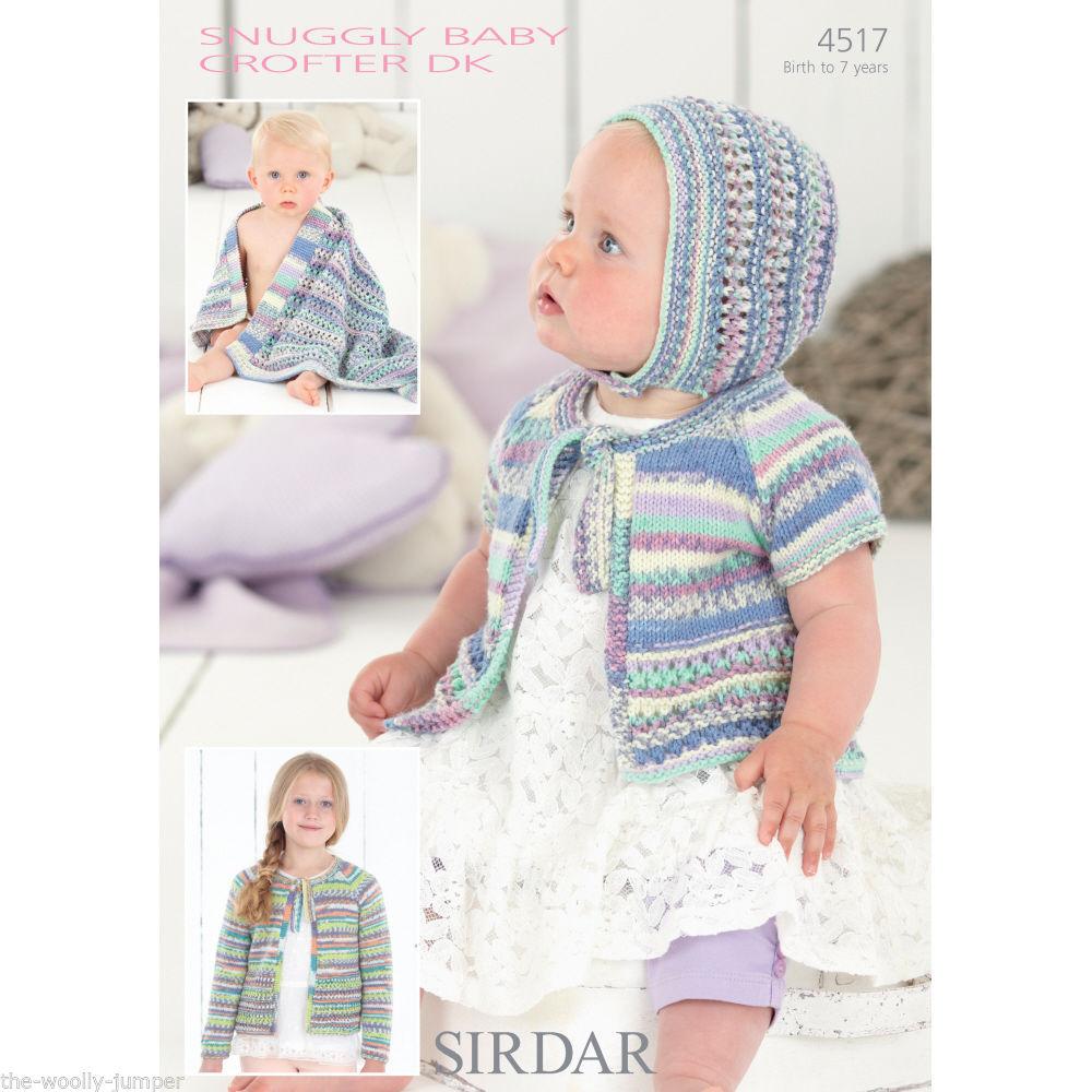 Knitting Patterns For Baby Blankets Sirdar : Sirdar baby crofter dk cardigan bonnet blanket