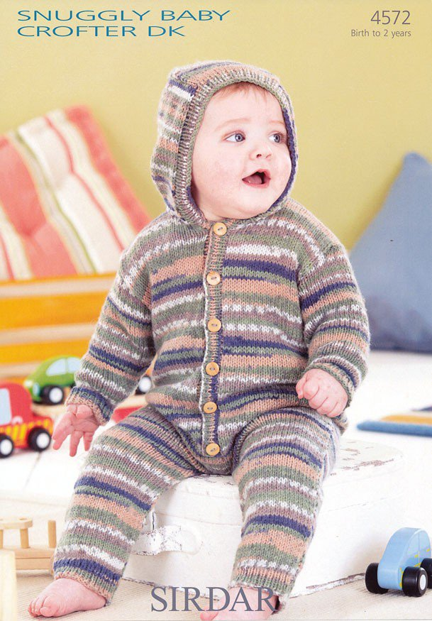 4572 Sirdar Snuggly Baby Crofter Dk All In One Knitting Pattern