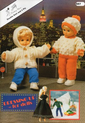 587 Baby Dolls Cindy Barbie Ken Outfits Knitting Pattern Booklet