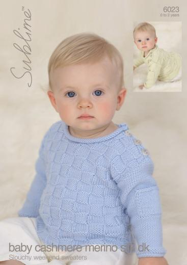6023 Sublime Baby Cashmere Silk Dk Slouchy Weekend Sweaters