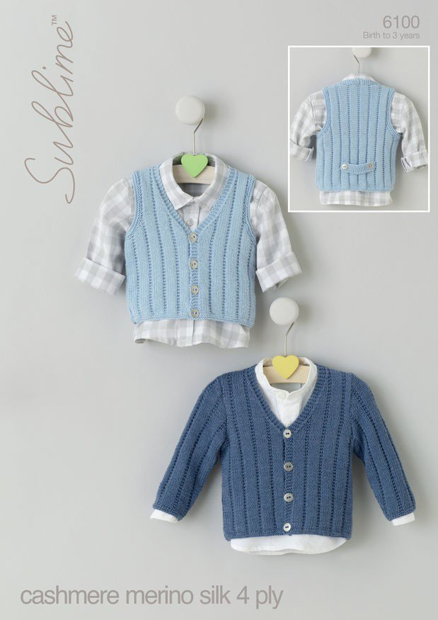 6100 Sublime Baby Cashmere Merino Silk 4 Ply Cardigan