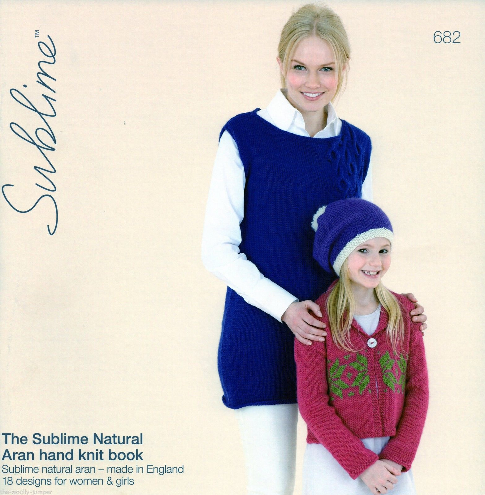 682 - THE SUBLIME NATURAL ARAN HAND KNIT BOOK - 18 KNITTING PATTERN ...