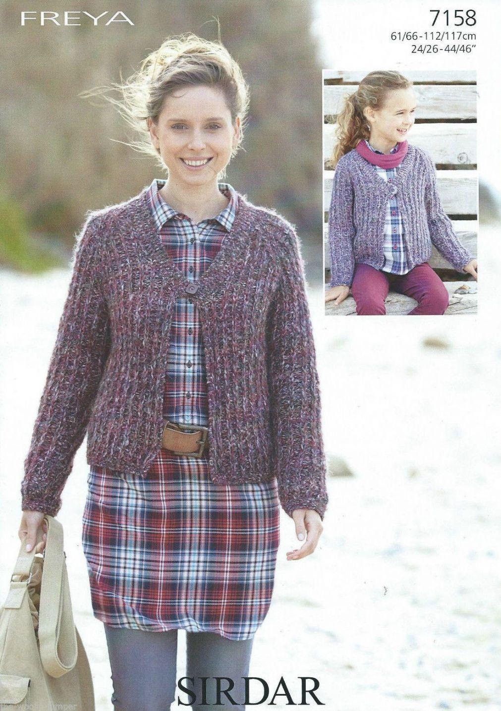 7158 Sirdar Freya Ladies And Girls Cardigan Knitting