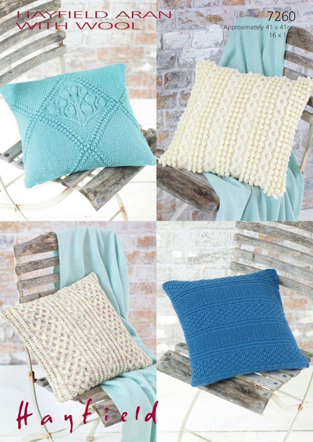 Aran Cushion Cover Knitting Patterns