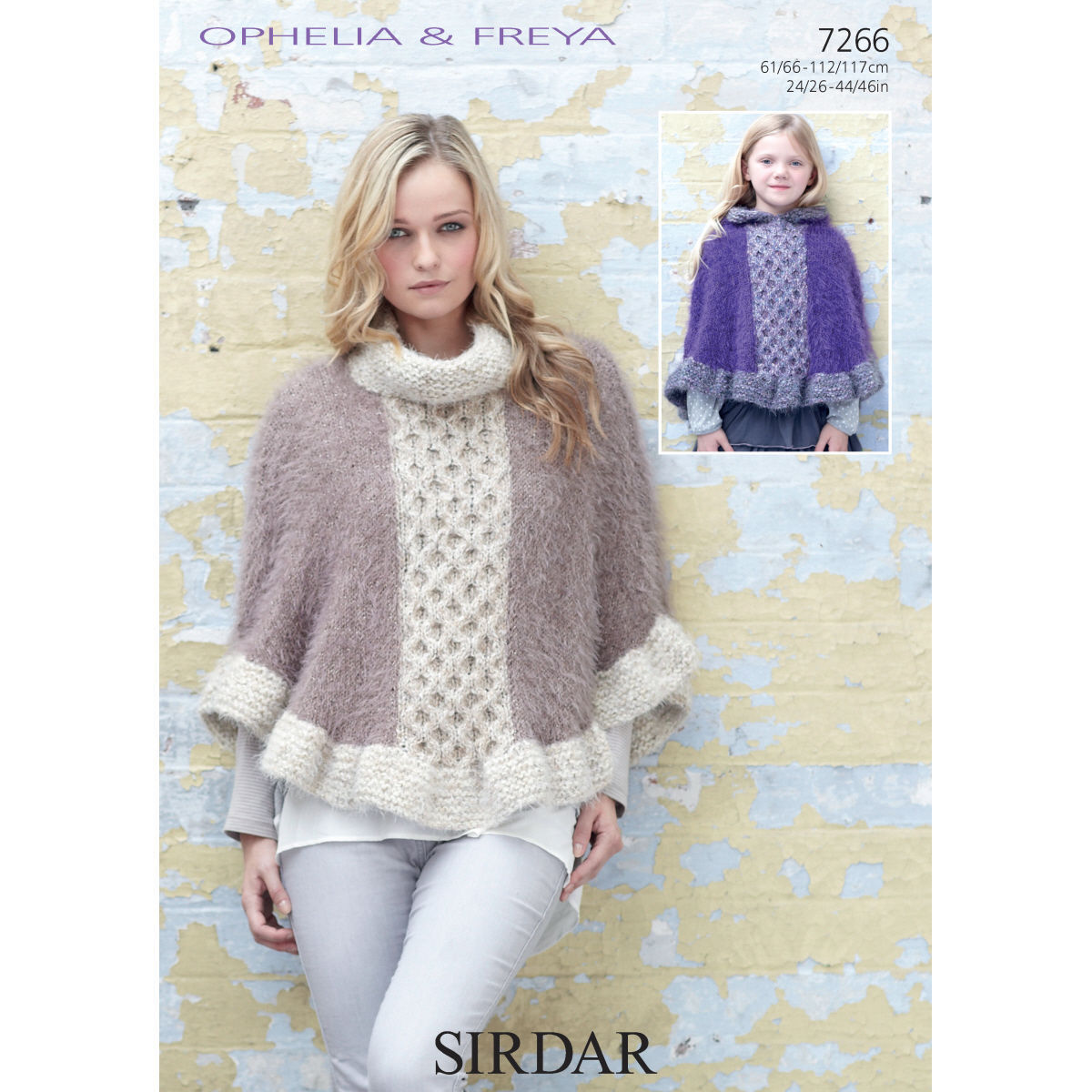 7266 - SIRDAR OPHELIA & FREYA CHUNKY CAPE KNITTING PATTERN - TO FIT ...