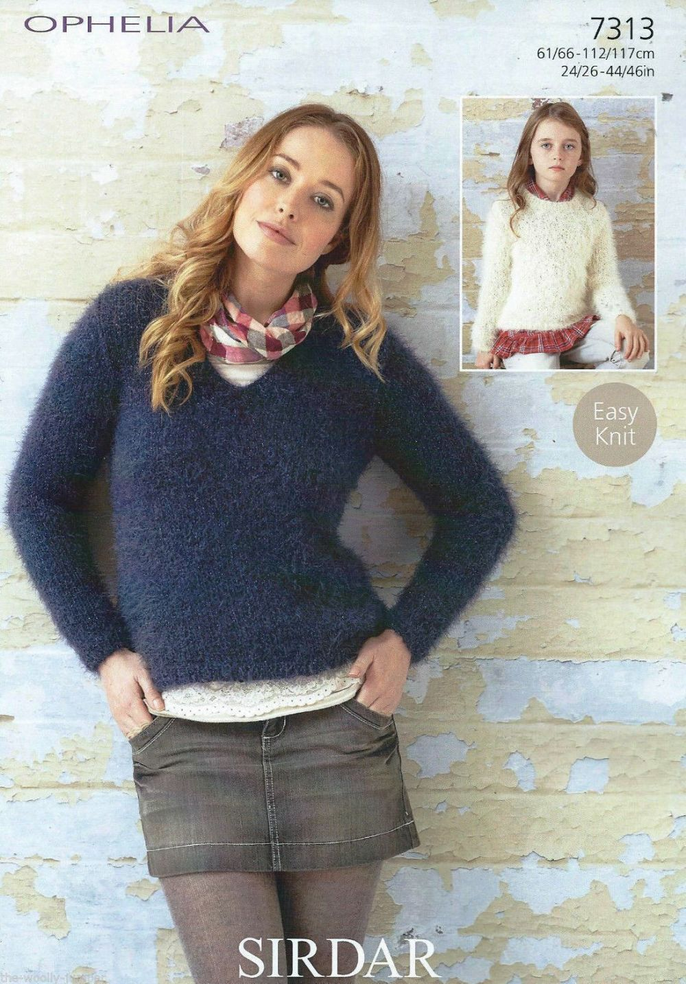 7313 Sirdar Ophelia Chunky Easy Knit Sweater Knitting Pattern To