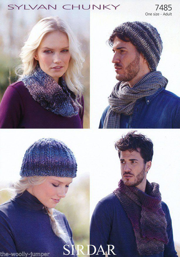 7485 Sirdar Sylvan Chunky Cap Hat Scarf Snood Knitting Pattern