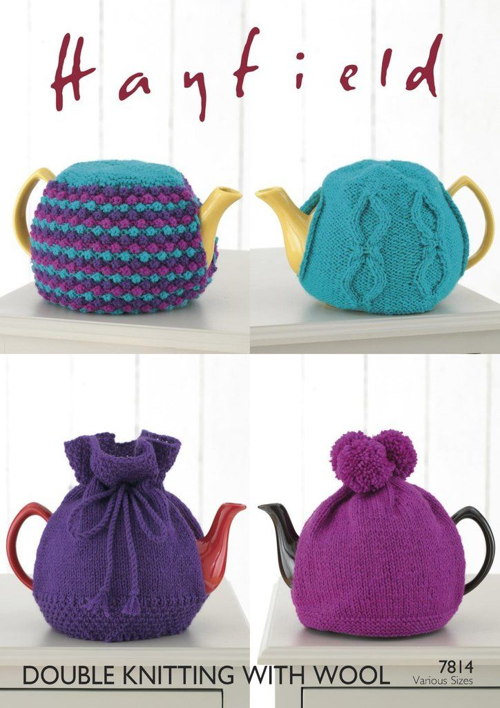 7814 Hayfield Double Knitting With Wool Teacosy Knitting Pattern