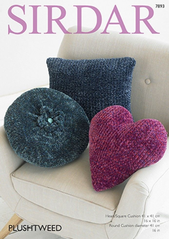 7893 Sirdar Plushtweed Cushion Knitting Pattern