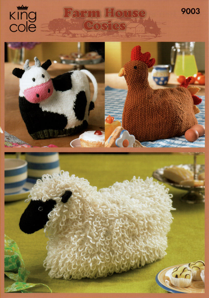 9003 - KING COLE FARM HOUSE COW HEN & SHEEP TEA COSY - COSIES ...