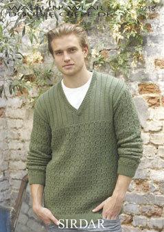 9218 Sirdar DK SWEATER MENS Knitting Pattern 38-48