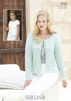 "9783 - SIRDAR ELLA SPARKLE DK CARDIGANS KNITTING PATTERN - TO FIT 24"" TO 46"""
