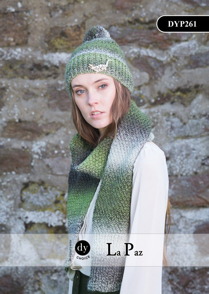 Dyp261 La Paz Hat Scarf Knitting Pattern One Size