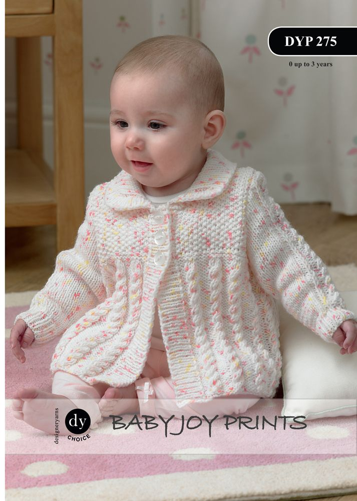 Dyp275 Dy Choice Baby Joy Dk Cardigan Jacket Hat
