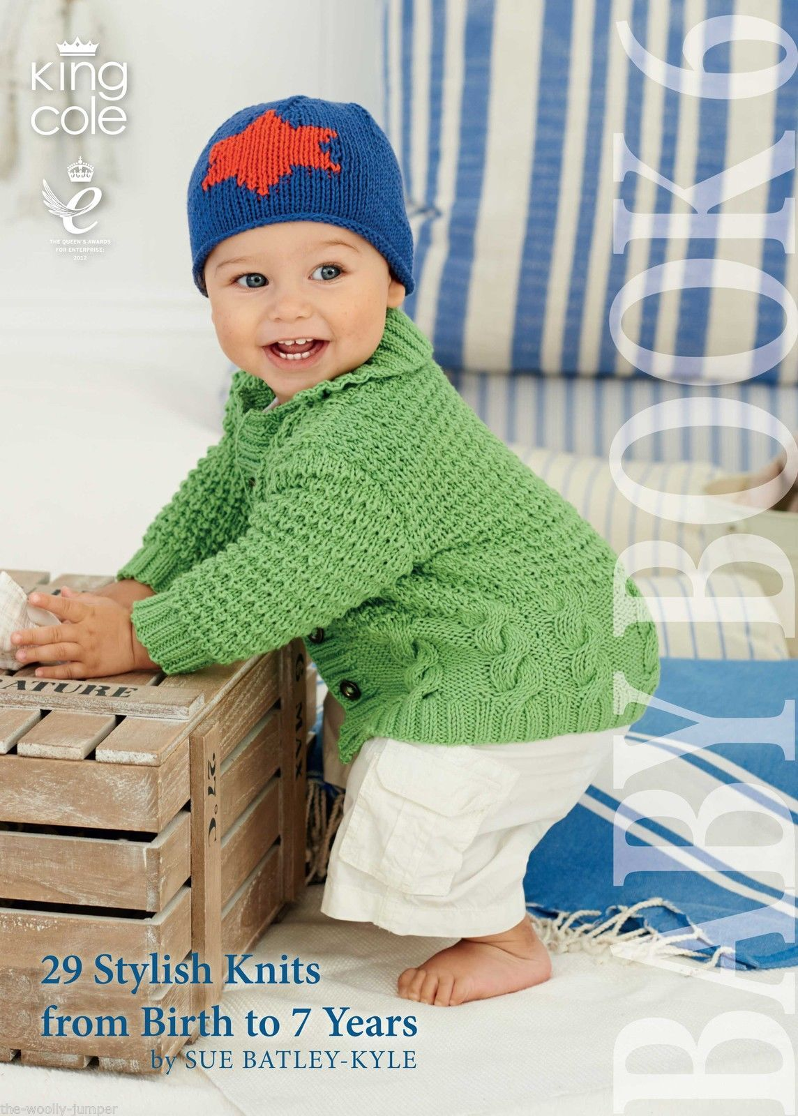 46997a243 KING COLE BABY BOOK 6 SIX - 29 STYLISH KNITS FROM BIRTH UP TO 7 YEARS