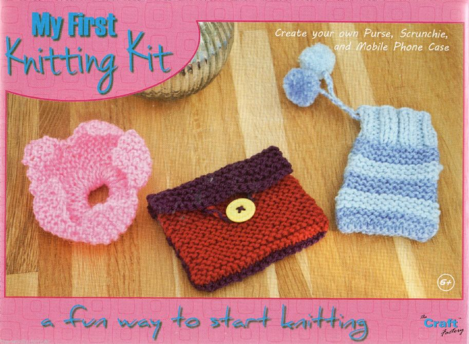 The Craft Factory My First Knitting Kit Create Your Own Purse